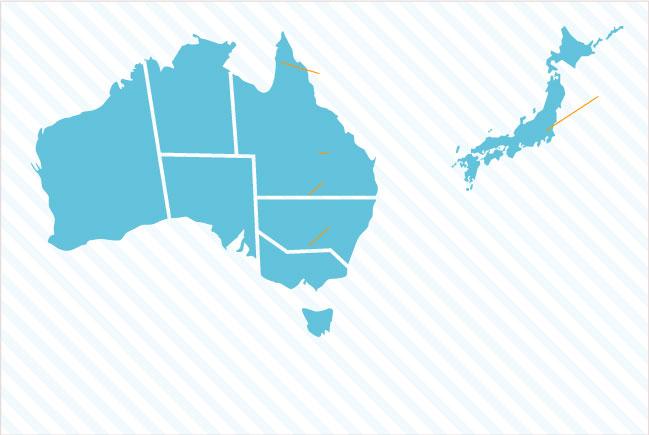 オーストラリアの語学学校と現地サポートオフィス